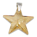 Stříbrný přívěsek s krystalem Swarovski Star Golden Shadow