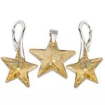 Stříbrný set s krystaly Swarovski Star Golden Shadow