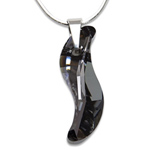 Stříbrný náhrdelník s krystalem Swarovski Wave Silver Night