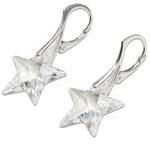 Stříbrné náušnice s krystalem Swarovski Star Crystal