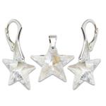 Stříbrný set s krystaly Swarovski Star Crystal