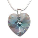 Stříbrný náhrdelník s krystalem Swarovski Aquamarine