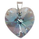 Stříbrný přívěsek s krystalem Swarovski Aquamarine