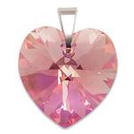 Stříbrný přívěsek s krystalem Swarovski Light Rose