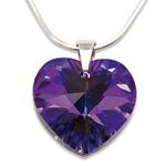 Stříbrný náhrdelník s krystalem Swarovski Heliotrope
