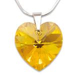 Stříbrný náhrdelník s krystalem Swarovski Light Topaz