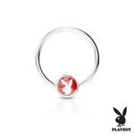 Piercing kruh Playboy červený K1003R