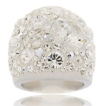 Prsten s krystaly Swarovski Kristale Cosmos Exkluzive