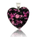 St��brn� p��v�sek s krystaly Swarovski Mauricius Heart