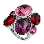 Prsten s krystaly Swarovski Oliver Weber Event 41029-204