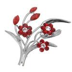 Ozdobná brož s krystaly Swarovski Oliver Weber Flowers 58004