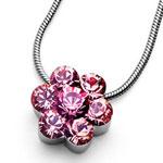 Přívěsek s krystaly Swarovski Oliver Weber Flower 11197-223