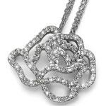 Pøívìsek s krystaly Swarovski Oliver Weber Rose 9254