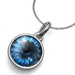 Přívěsek s krystaly Swarovski Oliver Weber Fun Denim Blue