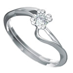 Zásnubní prsten s briliantem Dianka 804
