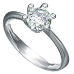 Zásnubní prsten s briliantem Dianka 805
