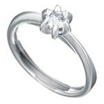 Zásnubní prsten s briliantem Dianka 812