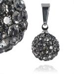 Ocelový přívěsek s krystaly Ball Grey