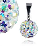 Ocelový přívěsek s krystaly Ball Rainbow