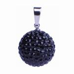 Ocelový přívěsek s krystaly Ball Blackies