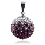 Ocelový přívěsek s krystaly Ball Purple White