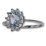 Prsten stříbrný R0247 AQUA