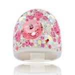 Prsten s krystaly Swarovski Rose Cosmos Exkluzive