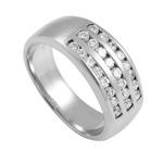 Prsten z chirurgické oceli Cubic RSDE04