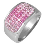 Prsten s krystaly Swarovski RSSW11-ROSE