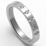 Dámský ocelový snubní prsten RZ04009