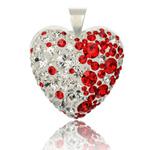 St��brn� p��v�sek s krystaly Swarovski Siam Heart