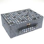 Šperkovnice JKBox Cube Blue SP289-A13 - II.jakost