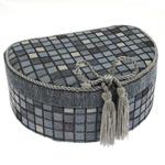 Šperkovnice JKBox Cube Blue SP292-A13 - II. jakost