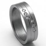 Dámský titanový snubní prsten TTN2502