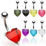 Piercing do pupíku srdce WP01003