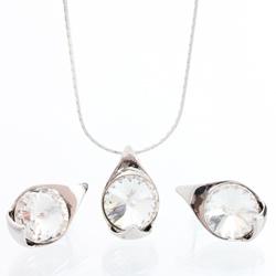 Støíbrný set s krystaly Swarovski 11000785CR