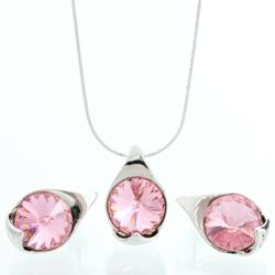 Stříbrný set s krystaly Swarovski 11000785RO