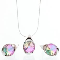 Støíbrný set s krystaly Swarovski 11000785VL
