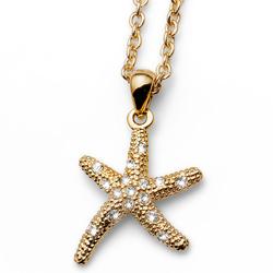 Pøívìsek s krystaly Swarovski Oliver Weber Starfish Gold
