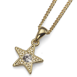 Pøívìsek s krystaly Swarovski Oliver Weber Stella Gold
