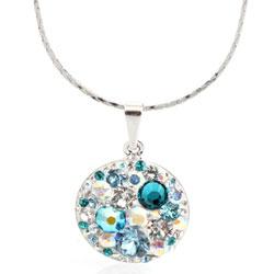 Náhrdelník s krystaly Swarovski Rivoli Aqua