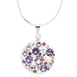 Náhrdelník s krystaly Swarovski Rivoli Violet