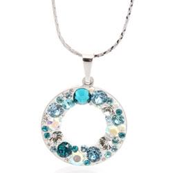 Náhrdelník s krystaly Swarovski Circle Aqua