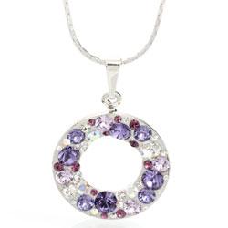 Náhrdelník s krystaly Swarovski Circle Violet