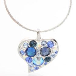 Náhrdelník s krystaly Swarovski Heart Saphire