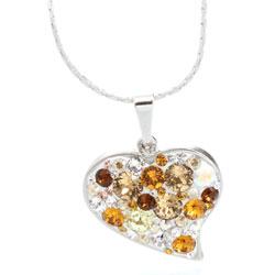 Náhrdelník s krystaly Swarovski Heart Topaz