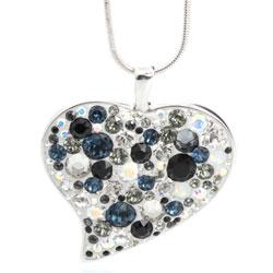 Náhrdelník s krystaly Swarovski Heart Crystal Jet