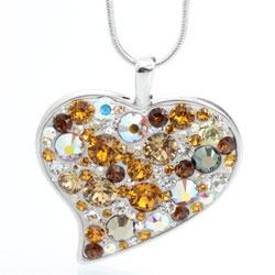 Náhrdelník s krystaly Swarovski Heart Crystal Topaz