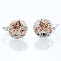 Náušnice Crystalis peach - náušnice s krystaly Swarovski