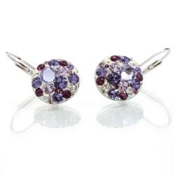 Náušnice s krystaly Swarovski Rivoli Violet Small